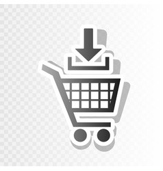 Add to shopping cart sign new year vector