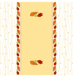 Autumn leaves frame greeting card vector image