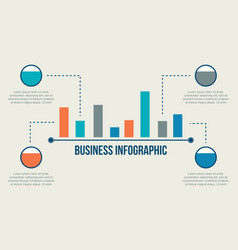 Business infographic graphic and data vector