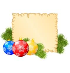 christmas blank vector image
