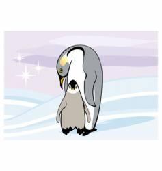 Emperor penguin vector