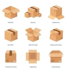 Flat carton box transport vector