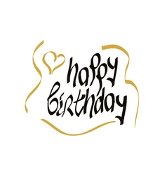 Happy birthday script lettering vector