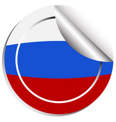 Icon design for flag of russia vector