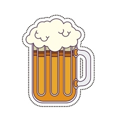 Isolated beer glass design vector image vector image