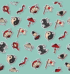 Japan flat icons pattern vector