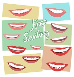 Keep smiling vector
