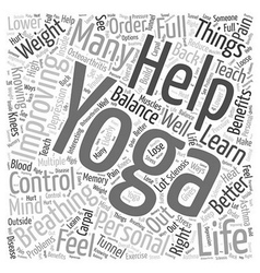 Knowing Yoga will help me in improving my Personal vector image