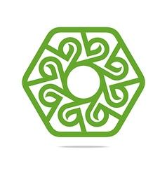 Logo design go green garden plants circle icon vector