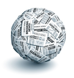 newspaper ball vector image vector image
