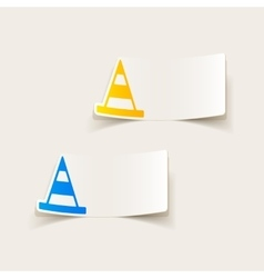 Realistic design element road cones vector