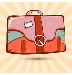 Retro Suitcase on Vintage Background vector image