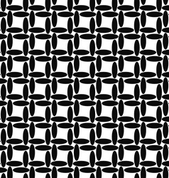 Seamless black and white ellipse pattern vector image vector image
