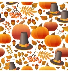 Seamless Thanksgiving day pattern with pumpkins vector image vector image