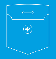 Shirt pocket icon outline style vector