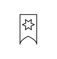 starred bookmark icon vector image