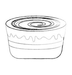 Sweet baked cake cartoon vector
