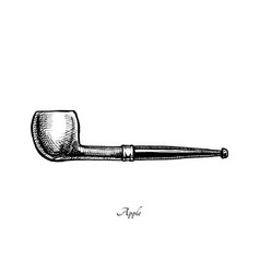 Tobacco pipes apple vector