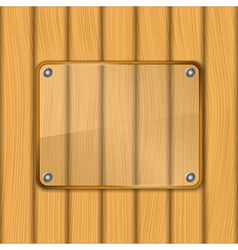 Transparent glass frame vector image vector image