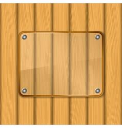 Transparent glass frame vector image