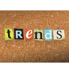 Trends concept vector