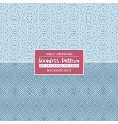 Blue backgrounds with seamless patterns vector image
