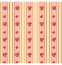 Vintage rose and stripes pattern for wallpaper vector