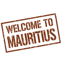 Welcome to mauritius stamp vector