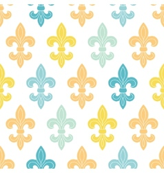 God and blue lily seamless pattern background vector