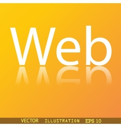 Web icon symbol flat modern web design with vector