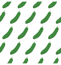 Seamless pattern with green cucumbers vector