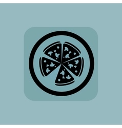 Pale blue pizza sign vector