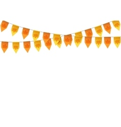 Autumn buntings garlands isolated on white vector