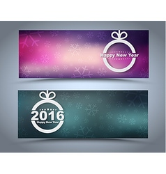 Design new year banner on a blurred background vector