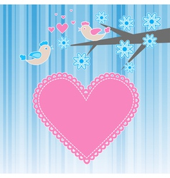 two birds in love vector image