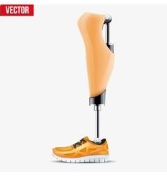 Original modern prosthetic leg mechanism vector