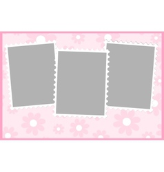 Blank template for greetings card vector
