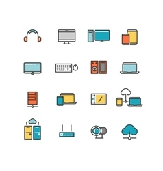 Home and office appliances personal electronics vector