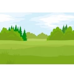 Landscape summer forest low poly vector