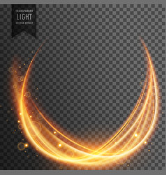 Abstract magical light effect with golden wave vector