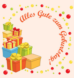 Alles gute zum geburtstag - background with gifts vector