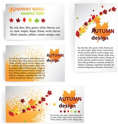 Autumn business design vector