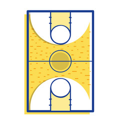 Basketball sport field to play competition vector