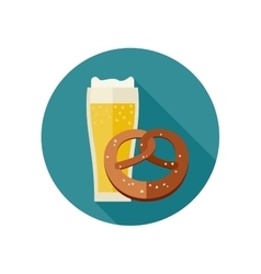 Beer and pretzel vector