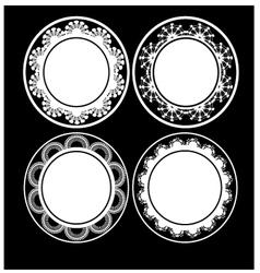 Black and white circular design vector image vector image