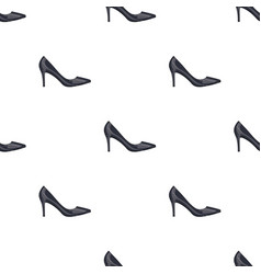Black womens highheeled shoes exit in a dress vector