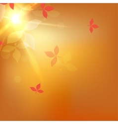 Blurred autumn orange abstract background vector