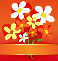 Bouquet flower card vector