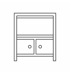 Cabinet storage icon outline style vector image