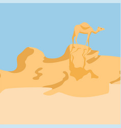 Camel in a desert vector